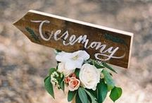 | wedding signs | / We think wedding signs look better with a few flowers to enhance them.