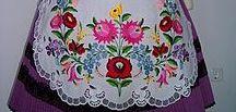 "Traditional hungarian embroidery ""Kalocsa"" (kalocsai hímzés) / Kalocsai hímzés minták"