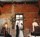 Loft Wedding / Vintage industrial wharehouse weddings for hip, creative couples.