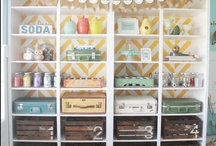 REinvented craft room / So we do a lot of crafting at the We 3 pad if you didn't notice! Here are inspirations and ideas for REinventing the space we use for crafting.