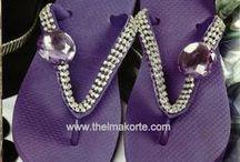 CHINELOS BORDADOS E CUSTOMIZADOS / chinelos bordados e customizados por THELMA KORTE