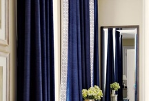 BLUES / Inspirational images of window treatments + details in prints + solids in shades of blue - blue ombre, navy, cobalt, royal, indigo, sky, cornflower, aqua, teal and turquoise. / by The Curtain Exchange