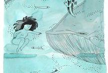 Dibujar / dibujar pajaros aves flores acuarela girasol dragon de rio totoro