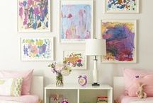 Displaying Children's Art / Ideas and inspiration for how to display children's art in the home