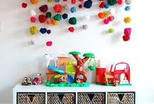 Mini: Play Rooms / Ideas and inspiration for playrooms for kids - including organization tips, storage, and DIY ideas for babies, kids, and toddlers!
