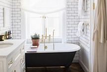 Interiors: Bathrooms / Inspiration for bathroom decor and renovations / by Bee @ Hellobee