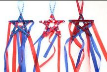 Holiday | 4th of July / Craft and recipe ideas for kids to create for Independence Day!