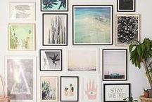 Interiors: Gallery Walls / Gallery wall inspiration and ideas