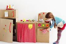"Materials | Cardboard / ""Upcycle"" cardboard boxes into cute toys, games, and play sets that your kids can enjoy! / by Highlights for Children"