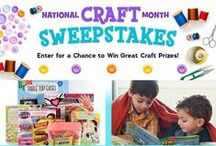 Nat. Craft Month 2016 / March is National Craft Month! We've teamed up with A.C. Moore Arts & Crafts and Leisure Arts to share some of our favorite kids crafts all month long!  Enter now at Highlights.com/contest for the chance to win over $300 in craft inspiration!