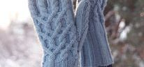 mittens: with arans, crochetted, knitted