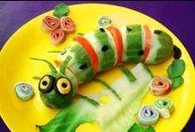 Verdurine divertenti!! / Piccole, semplici e sfiziose idee per rendere divertenti le verdure agli occhi dei tuoi bambini! / by Oltre Tata