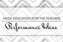 Performance Ideas - Music Education {Just for the Teacher} / Ideas for themed music performances and programs