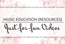 Just-For-Fun Videos - Music Education {Resources} / Some cute, some informative, some good brain breaks! - fun videos for the elementary music room.  Music Education {Resources} Just-For-Fun Videos