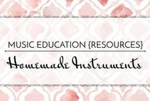 Homemade Instruments - Music Education {Resources} / Fun ideas and projects for students to create their own musical instruments. Would be great for studying the science of sound!