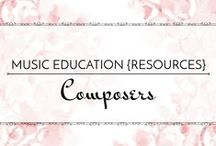 Composers - Music Education {Resources} / Activities and resources for studying composers in the elementary/middle school music room