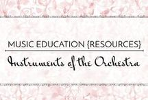 Instruments of the Orchestra - Music Education {Resources} / Resource for teaching instruments of the orchestra and instrument families in the elementary/middle school music classroom  Music Education {Resources} Instruments of the Orchestra