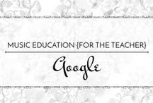 Google - Music Education {Just for the Teacher} / With the affordability and versatility of Chrome Books, several schools are turning toward using Google apps for almost everything. Here are some tutorials and ideas for using Google in your classroom or for creating and organizing your own materials.