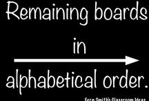 Directions / Remaining boards are in alphabetical order. / by Fern Smith