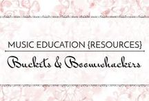 Buckets & Boomwhackers - Music Education {Resources} / Bang and boom! Resources for making some noise!