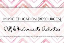 Orff & Instrument Activities - Music Education {Resources} / Arrangements and activities using Orff classroom instruments