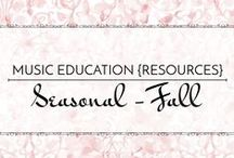 Seasonal: Fall - Music Education {Resources} / Songs and activities for fall, autumn, Halloween, and Thanksgiving