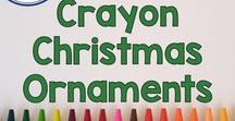 Crayon Christmas Ornaments / Use Crayon Christmas Crafts to develop creativity and imagination with arts and crafts for elementary aged students and your children at home! Crayons are fun and full of learning since they encourage fine motor skills, math, and language skills in kids. Pinned by Fern Smith of Fern Smith's Classroom Ideas.
