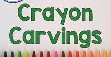 "Crayon Carvings / Crayon Carvings are the NEATEST thing to share with your students, wonderful for art class, wonderful for creative writing or ""how to"" writing! Pinned by Fern Smith of Fern Smith's Classroom Ideas."