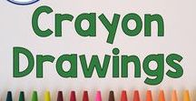 Crayon Drawings For Kids / Use Crayon Drawing to Develop creativity and imagination with arts and crafts for elementary aged students and your children at home! Crayons are fun and full of learning since they encourage fine motor skills, math, and language skills in kids. Pinned by Fern Smith of Fern Smith's Classroom Ideas.