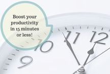 Free Ways to Get More Done / Time management can be a struggle when you have a million things going on in your life. Here are some tips and tricks that I found to help your #productivity #organization