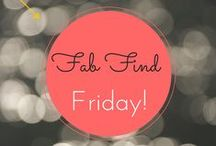 """""""Fab Finds""""!  / Here is my collection of fabulous products and apps that I have found! Enjoy!!"""