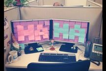 April Fools' Day! / April Fools' Day can be filled with some pretty sweet surprises. Bring a little chuckle to your friends and co-workers with these ideas :)