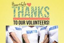 Volunteerism & Community / One of the best ways to increase happiness and fulfillment is to volunteer in your community. Here are some ideas to become active and to thank your local volunteers!