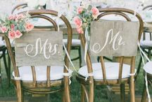 Chair Backs & Covers / Pulling together the decor by including polished chair covers.