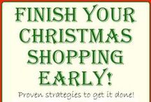 Early Holiday Shopping / Getting holiday shopping done early! Avoid the craziness of the stores during holiday season.