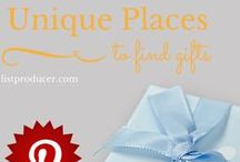Unique Places To Find Gifts