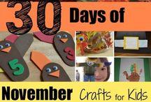 Kids Thanksgiving Crafts / Kinzies Stuff