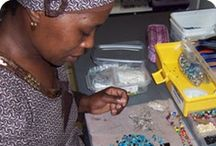 African Hope Crafts ~ South Africa / Even though 25 percent of South Africa's population suffers from AIDS, the people of Cape Town will not let the disease destroy their hopes and dreams. In fact, a Christian job creation program, African Hope Crafts (AHC), specifically reaches out to men and women who are HIV positive and unable to find work. While they create jewelry, purses, scarves, and other items they learn proper health practices and receive encouragement from each other. / by WorldCrafts