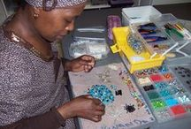 African Hope Crafts ~ South Africa / Even though 25 percent of South Africa's population suffers from AIDS, the people of Cape Town will not let the disease destroy their hopes and dreams. In fact, a Christian job creation program, African Hope Crafts (AHC), specifically reaches out to men and women who are HIV positive and unable to find work. While they create jewelry, purses, scarves, and other items they learn proper health practices and receive encouragement from each other.