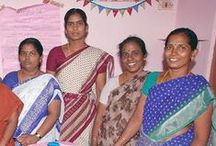 Vijaya Deepam Trust ~ India / Vijaya Deepam Trust works with young women in their early 20s to mid-30s in India. These women come from impoverished backgrounds, and the money they earn through Vijaya Deepam Trust allows them to feed their children and pay for their education. All profits made through the sale of their products are shared among the women. Some of the women's spouses are addicted to alcohol, leaving them to be the family's primary providers.