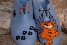 Felted slippers / felted wool slippers for women and men