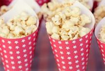 New Year's Eve Party Popcorn / It's party time, and time to try out some unusual #popcorn flavors to impress your guests this New Year's Eve. So get popping before the ball starts dropping!