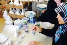 Anadoule ~ Turkey / Anadoule artisan group is located in the Turkish central city of Anatolia. This group is providing opportunities for women to learn skills in handmade crafts in order to provide much-needed income for their families and keep the Turkish culture alive.