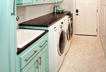 Home Sweet Home {laundry room} / {retro} laundry room ideas / by Erica Girard