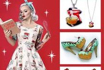 Jubly-Umph | Style Guide / Fashion layouts, flatlays and outfit inspiration featuring Jubly-Umph jewellery and accessories and other local rockabilly, vintage and alternative brands. Featuring cute librarian ladies with books on their heads, swing skirts, flamingos and fun!