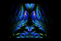 Fractal. Video, fractals in motion. / Video, fractals in the movement away from me.