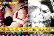 Tatuagens Delicadas e Femininas / Inspirações de tatuagens para mulheres, pais, filhos e mães!