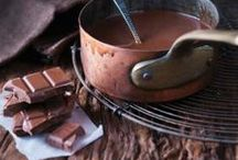 """Chocolate... / """"What you see before you, my friend, is the result of a lifetime of chocolate."""" ― Katharine Hepburn"""