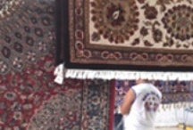 Oriental Rug Drying Process