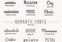 * Typographies *